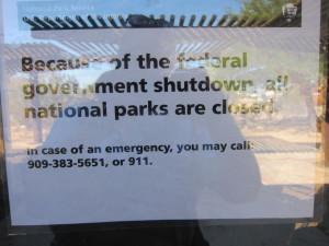shutdown sign